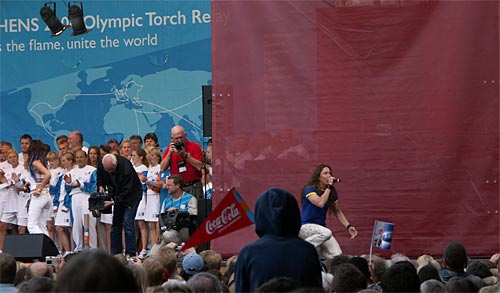 Olympic Torch Relay in Stockholm
