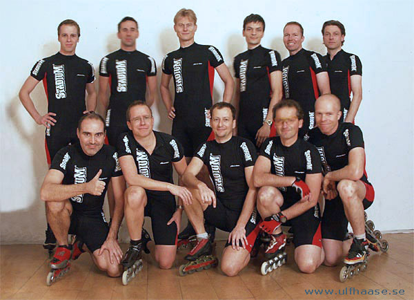 Team Södermalms IK, photo session, 2004.