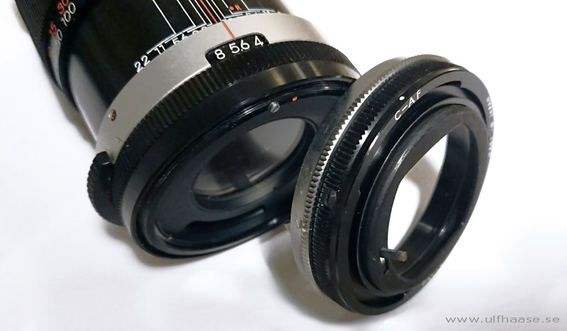 Tamron Auto 135mm f/2.8 with Tamron Adapt-A-Matic lens mount for Canon