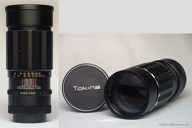Tokina lens 200 mm, f/1:3,5 for Canon