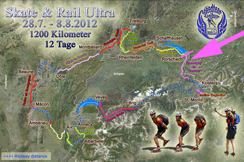 Skate & Rail Ultra 2012, route map made by Michael Seitz.