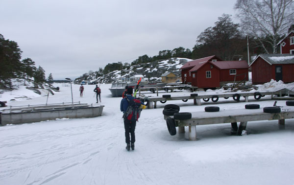 Ice skating, Stockholm archipelago, January 2011.