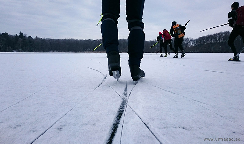Ice skating on Lake Mälaren.