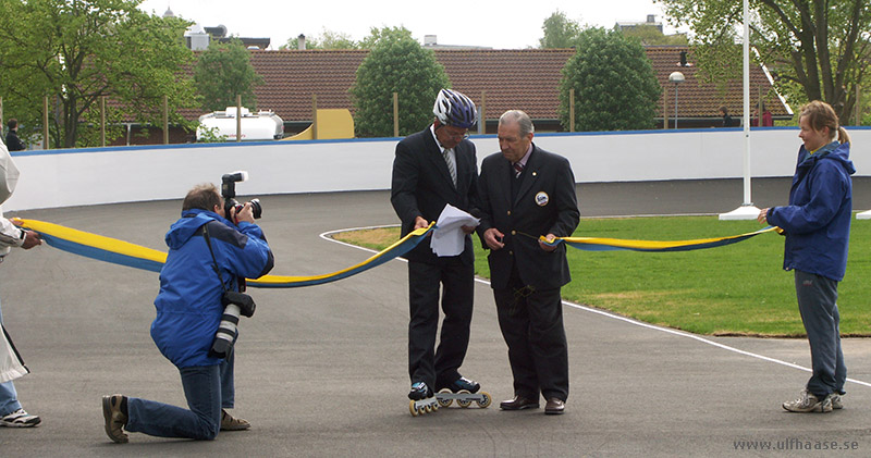 Inauguration of the inline skating track in Varberg, May 2006.
