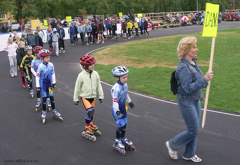 Inauguration of the inline skating track in Varberg, May 2006. (Photo: me)